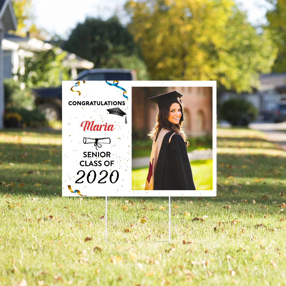Yard Sign - Congratulation Senior Class Of 2020 - Graduation Gift, Gift For Daughter, Son, Granddaughter, Senior Gift - 9976
