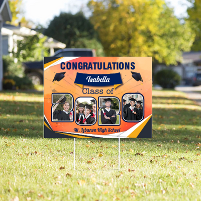 Personalized Photo Yard Sign - Congratulations Class Of 2020, Graduation Gift, Senior Gift - 9224