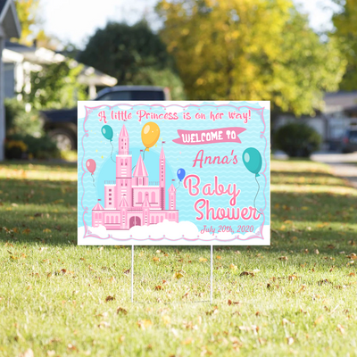 Personalized Custom Yard Sign - Baby Shower - Little Princess - Gift for Mom-to-be - 0727