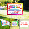 Thank you Teachers yard sign - Quarantine Teachers - Teachers teaching online - Teacher appreciation - 9240
