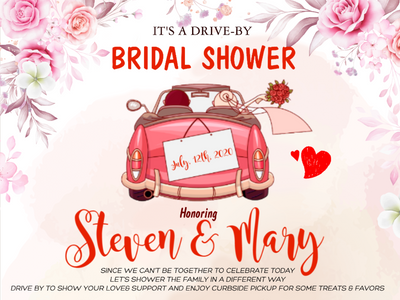 Personalized custom yard sign - Drive by Bridal Shower - Wedding yard sign - Gift for couple - 5303