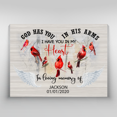 Personalized Custom Text Canvas - I Have You In My Heart- Memorial Canvas - 3191