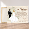 Personalized custom canvas - Gift to husband from wife - You mean everything to me - Wedding anniversary gifts - 2983
