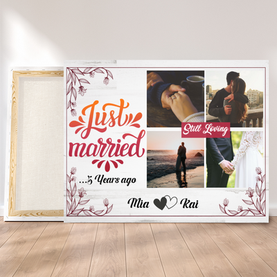 Personalized Custom Canvas - Wedding Anniversary - Gift From Husband, Wife - Couple Gift, Birthday Gifts - 7687