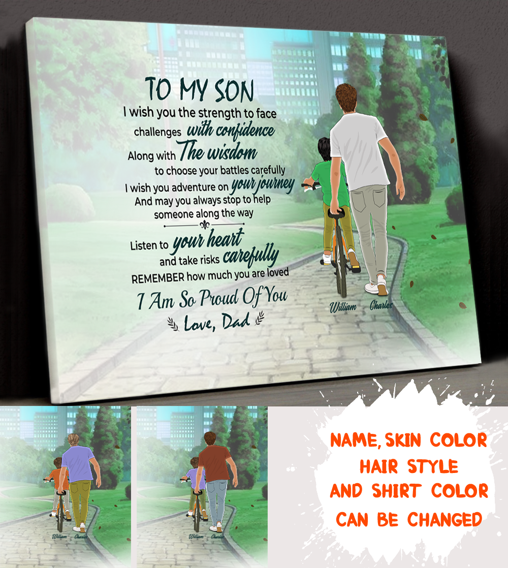 Personalized Custom Canvas - I Am So Proud Of You - Gift For Son From Dad, Birthday Gifts - 3016