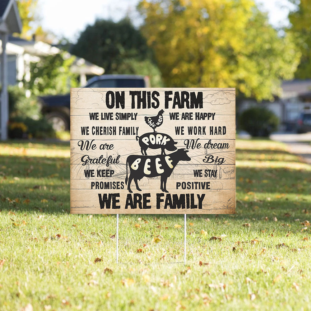 Yard Sign - On This farm - Motivational Quote Yard Sign - Outdoor Decoration - 9991