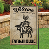 Garden Flag - Welcome to our Farmhouse - Flag with farm animal artwork - Vintage Style -1639