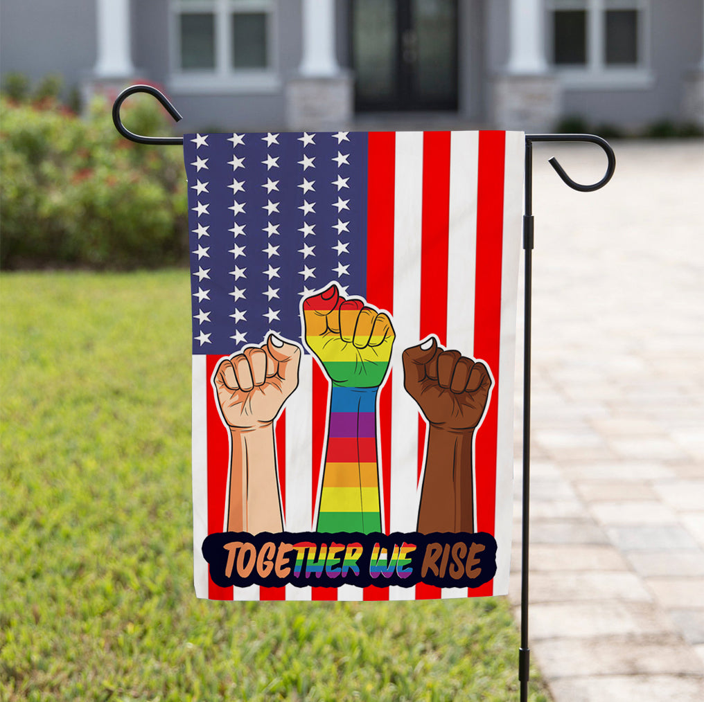 Garden Flag - Together We Rise - Love is Love - Black Lives Matter - 3431