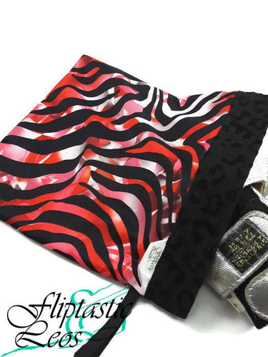 Gymnastics Grip Bag Snap Closure Red Tiger - Fliptastic Leos