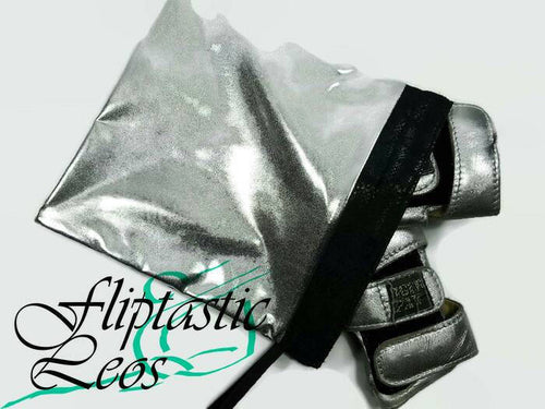 Gymnastics Grip Bag Snap Closure Silver Liquid Hologram - Fliptastic Leos