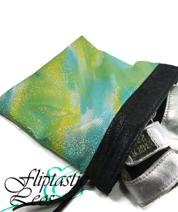 Grip Bag Snap Closure Green Sparkle Tye-Dye - Fliptastic Leos