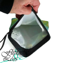 Load image into Gallery viewer, Grip Bag Snap Closure Green Sparkle Tye-Dye - Fliptastic Leos