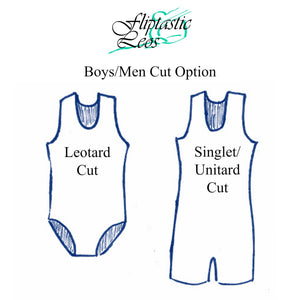 Boys Leotard Singlet Navy & Multi Color - Fliptastic Leos