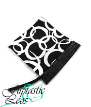 Load image into Gallery viewer, Gymnastics Grip Bag Snap Closure Black White Circles - Fliptastic Leos