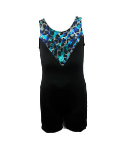 Boys Leotard Singlet Animal Print & Black - Fliptastic Leos