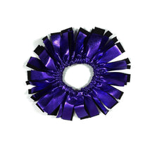 Load image into Gallery viewer, Fringe Hair Scrunchies Purple Liquid Hologram