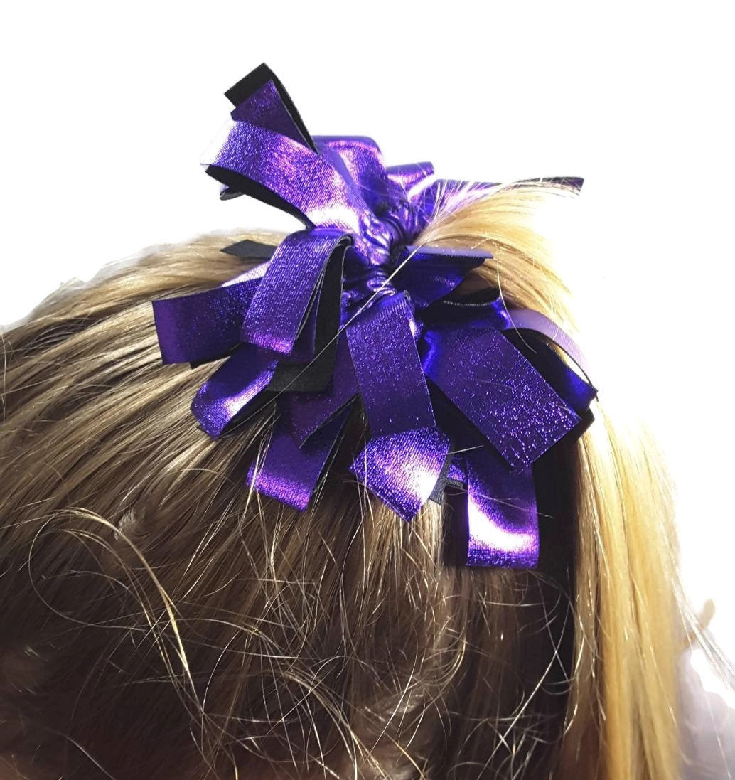 Fringe Hair Scrunchies Purple Liquid Hologram - Fliptastic Leos