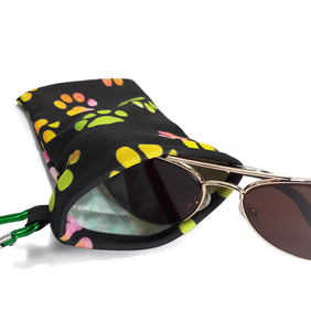Sunglasses Case Snap Closure Tye Dye Paw - Fliptastic Leos