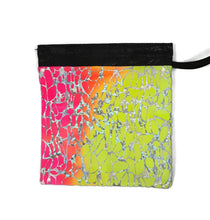 Load image into Gallery viewer, Gymnastics Grip Bag Snap Closure Pink Orange Yellow Tye-Dye with Silver - Fliptastic Leos
