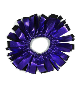 Fringe Hair Scrunchies Purple Liquid Hologram