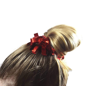 Fringe Scrunchies Red Liquid Hologram - Fliptastic Leos