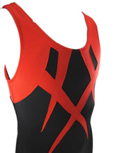 Load image into Gallery viewer, Boys Leotard Black With Red Applique - Fliptastic Leos