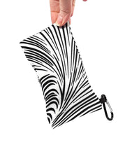 Load image into Gallery viewer, Sunglasses Glasses Case Snappy Snap Closure Black and White Zebra Print - Fliptastic Leos