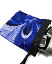 Load image into Gallery viewer, Gymnastics Grip Bag Snap Closure Blue Abstract Flower - Fliptastic Leos