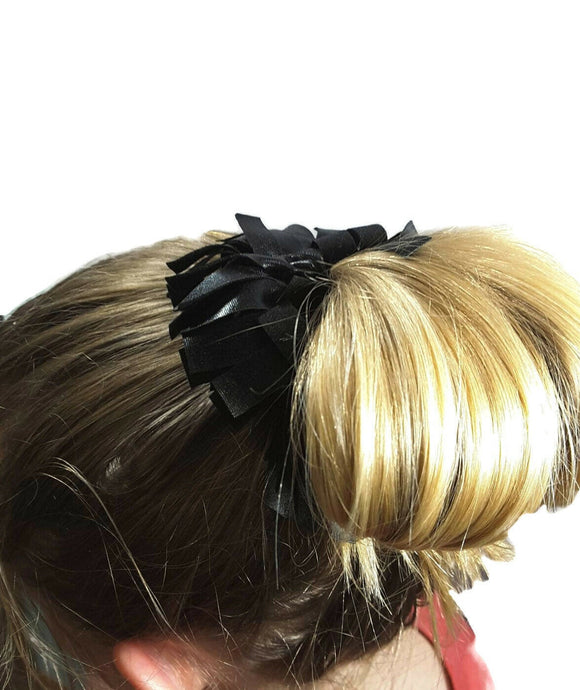 Fringe Scrunchies Hair Black Liquid Hologram - Fliptastic Leos