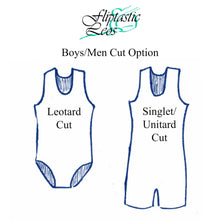 Load image into Gallery viewer, Boys Singlet or Leotard Black and White Weave - Fliptastic Leos