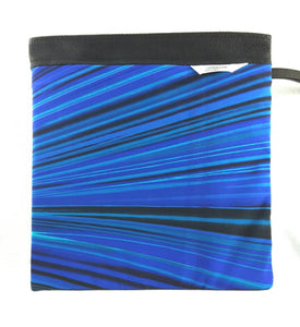 Gymnastics Grip Bag Snap Closure Black With Blue, and White Lines - Fliptastic Leos