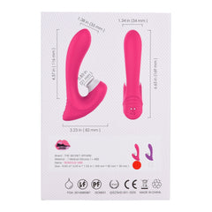The Sensous Vibe Premium Licking Vibrator Package (Back Side)