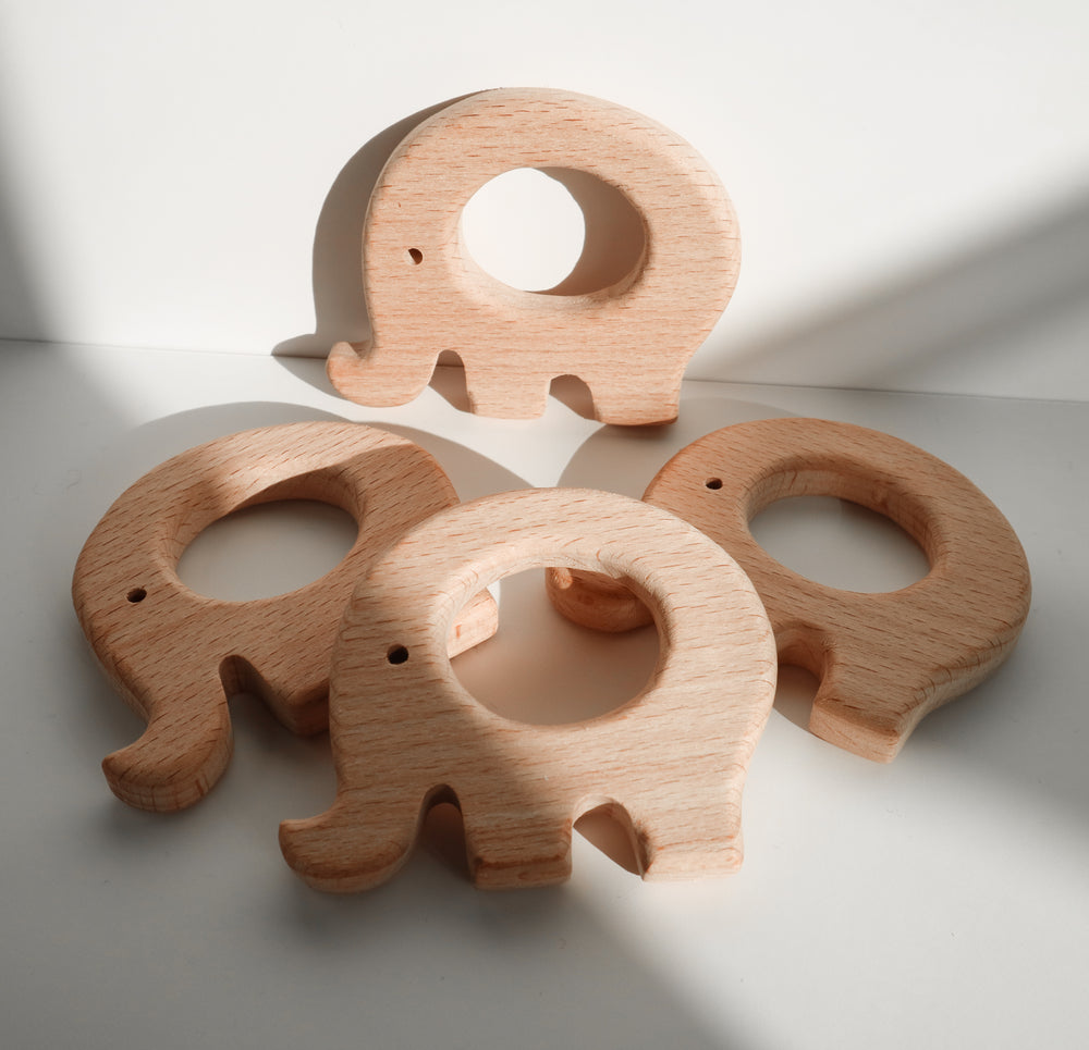 Load image into Gallery viewer, Eco Wooden Elephant Teether