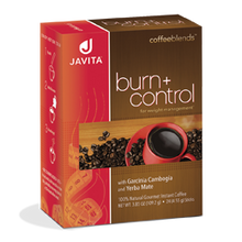 Load image into Gallery viewer, Javita burn + control coffee box, 24 Rip stick with slimming benefits and appetite control in every delicious cup!