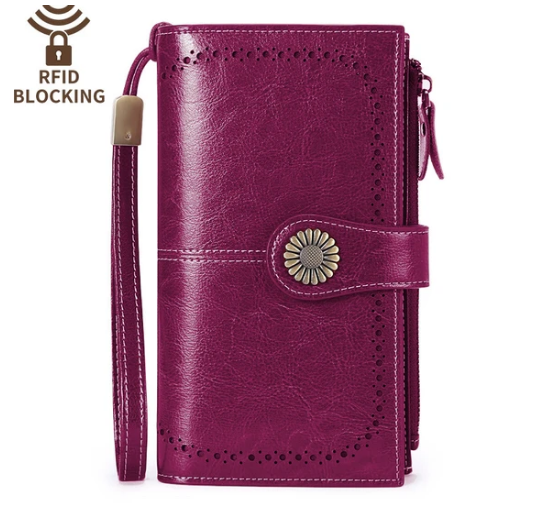 LARGE CAPACITY LEATHER WALLET WITH RFID PROTECTION-BUY 2 FOR FREE SHIPPING