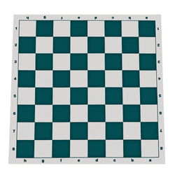 Tournament Roll Up Chess Board - Vinyl with Green Squares
