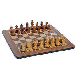Grand Staunton Chess Set - Tournament Size Weighted Pieces & Walnut Board - 19 in.