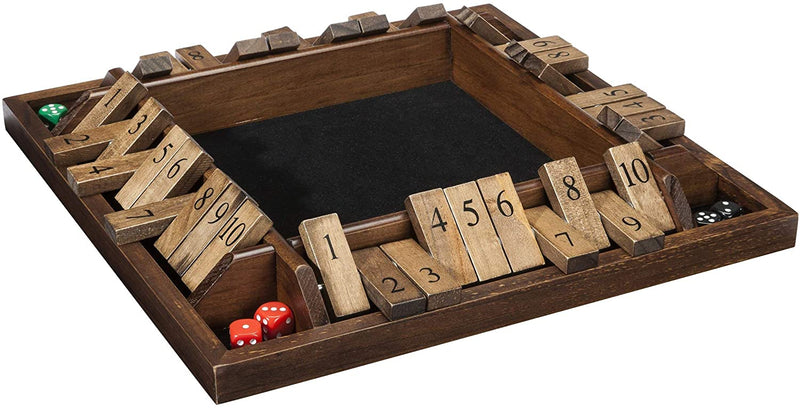 WE Games 4-Player Shut the Box - Travel Size - 8 inches