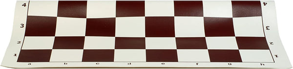 Tournament Roll Up Chess Board - Vinyl with Brown Squares