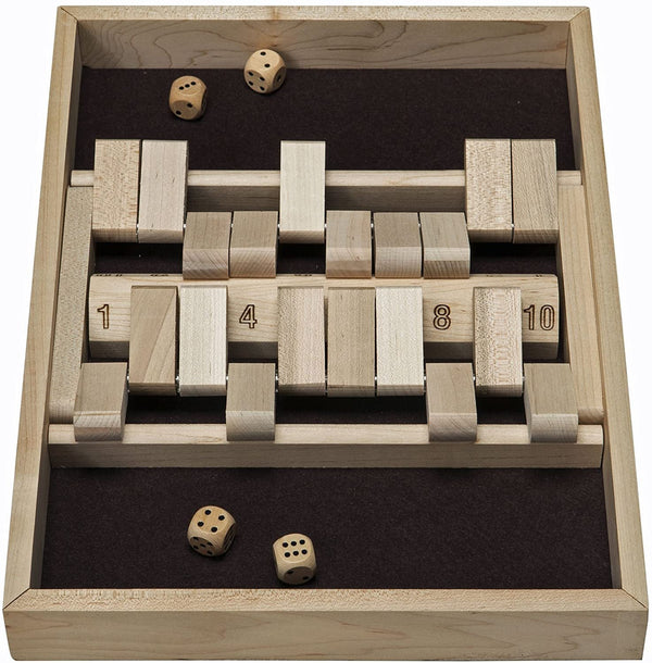 Double Sided Shut the Box - 10 Numbers (Made in USA)
