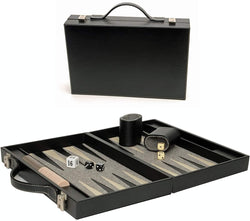 Elegant Black Backgammon Briefcase - Medium