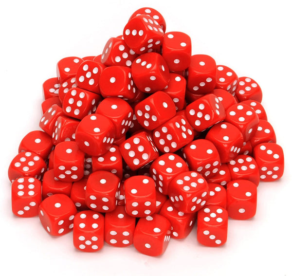 Red Dice with Rounded Corners