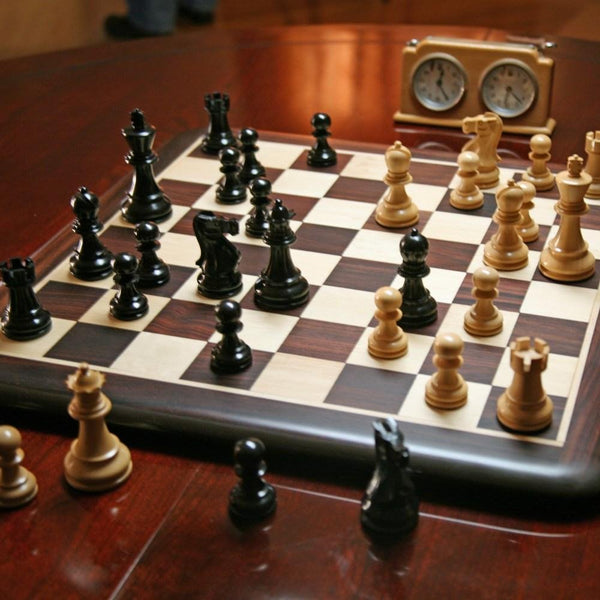 Luxury Staunton Rosewood Chess Set - Weighted Pieces & Rosewood Board 21 in.