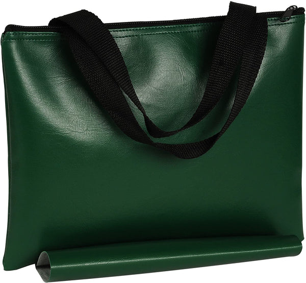 Green Leatherette Chess Bag - 12 in.