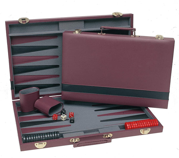 "WE Games Burgundy Backgammon - 15"" Inch"