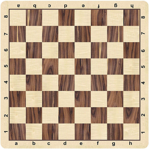 WE Games Rosewood & Maple Grain Mousepad Chessboard, 20 inches - made in USA