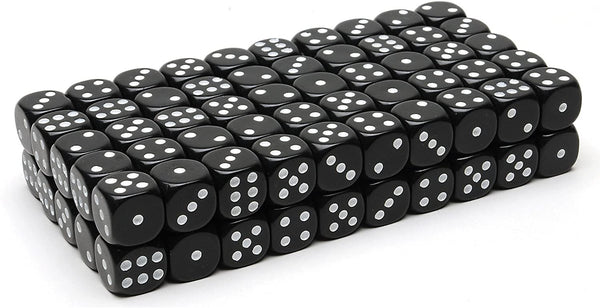 Black Dice with Rounded Corners - 100 Pack