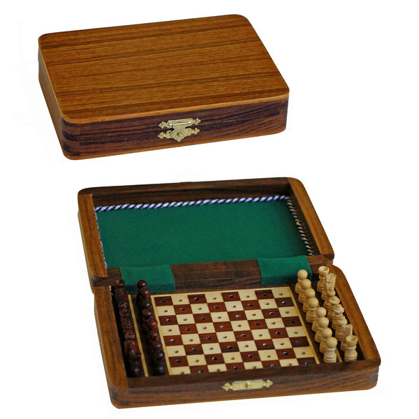 Travel Wood Pegged Chess Set - 7 inch