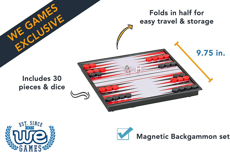 Magnetic Backgammon Set - 10 inches
