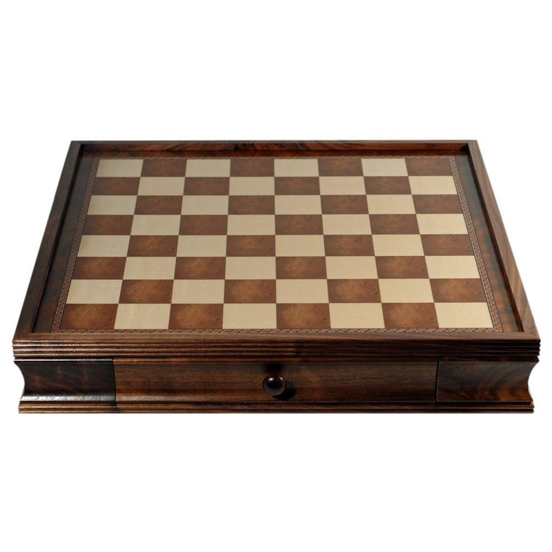 Deluxe Chess Board with Storage Drawers - Camphor Wood 19 in.